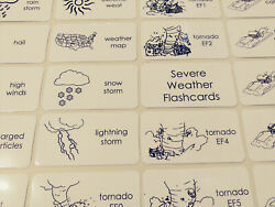 20 Laminated Severe Weather Word Wall Flashcards. Daycare Bulletin Board Classr $2.95