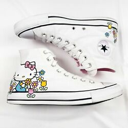 Converse Hello Kitty Chuck Taylor All Star High Top Shoes White Womens 7 Mens 5 $54.99