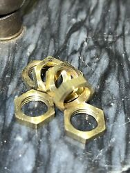 LOT OF 10 SOLID BRASS HEX NUTS LAMP PARTS 1 2quot; Wide X 1 8quot; THICK 1 8 27 IPS $1.75