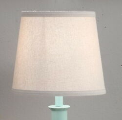 Accent Drum Lamp Shade Natural Textured Fabric Table Lamp Desk Lamp 8 in. High $22.99