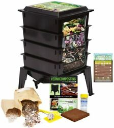 Worm Factory DS3BT 3 Tray Worm Composting Bin #Z9B5 $109.99