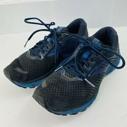 Brooks Ghost 12 Womens Size 9.5 Running Shoes Black And Blue $35.00