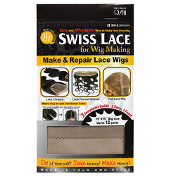 Qfitt Swiss Lace For Wig Making Make and Repair Lace Wig 15quot; x 15quot; #5012 $5.29