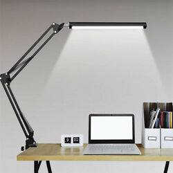Desk Lamp with Clamp Eye Care LED Table Desktop Light Folding Swing Arm Dimmable $32.95