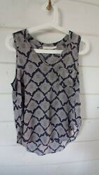 Lush Small Navy Blue And White Tunic Cami $18.00