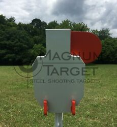 AR500 Steel Hostage Reactive IDPA Shooting Target 3 8in 7X12 for T Post $79.99