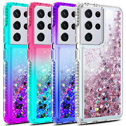 For Samsung Galaxy S21 Plus Ultra Case Liquid Bling Shockproof TPU Phone Cover $6.95
