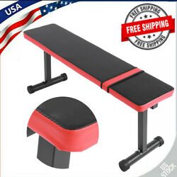 Indoor Power Bench Weight Flat Board Sit Up Abdominal Workout Exercise Gym Tool $60.70