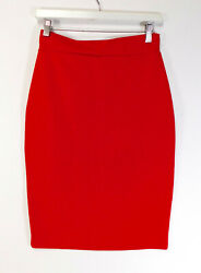 ZENA Red Pencil SKIRT in Red WOMEN#x27;S SIZE 1 SMALL $11.65