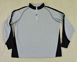 FOOTJOY GOLF Mens Sz XL Gray Heather Black 1 4 Zip Long Sleeve Golf Pullover EXC $22.49