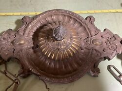 Ornate Bronze ? Victorian Hanging Fixture Light Outstanding Detail Unusual $140.00