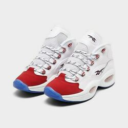 NEW Reebok Question Mid Red Toe 25th Anniversary Iverson FY1018 Size 9 $133.00