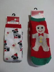Women Holiday Time Christmas Socks 1 Pair knee High 2 Pair Low Cut. NEW $5.00