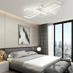 USA Modern Ceiling Lamp LED Stepless Dimming with Remote Control Geometric Light $98.00