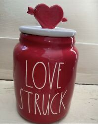 """Rae Dunn 2021 Valentines Baby Canister """"LOVE STRUCK"""" w Topper NEW HTF 💗❤️💗 $26.00"""