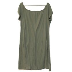 Feathers Ribbed sun dress sz 3X olive green $14.99