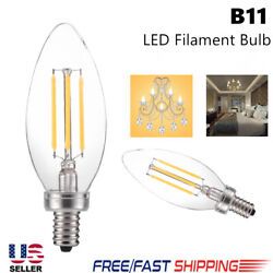 Candle Bulb Chandelier 5W B11 500LM LED Filament Bulb Long Life no flashing Zy $3.89