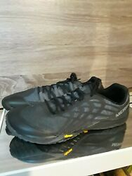 Size 10 Merrell Mens Black Casual Hiking Trail Glove Shoes Sneakers Barefoot $38.00