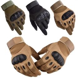Tactical Carbon Fiber Hard Knuckle Gloves Men Army Military Combat Shooting Gear $9.65