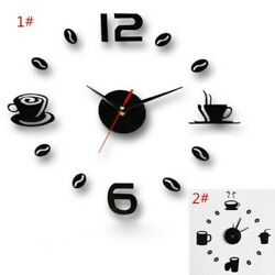 Art Wall Living Large Fashion Decor Self Clock Modern Sticker 3d Diy Watch Home $10.79