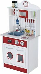 Pastel Little Chef Wooden Play Kitchen for Toddler 1 Piece $129.00
