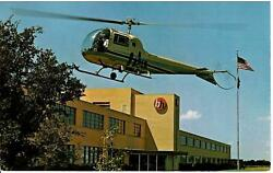 HELICOPTER CHROME POSTCARD HURST TEXAS HIGHWAY 183 BELL HELICOPTERS FOR MILITARY C $10.00