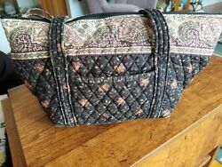 Vera Bradley Black Walnut Shoulder Tote Bag Retired Pattern Vtg Paisley $19.99