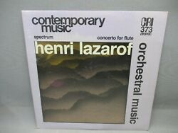 Henri Lazarof Orchestral Music Contemporary Music LP Vinyl Record CRI373 New $15.95