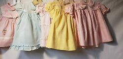 Lot Of Five Vintage Infant Girl Dresses $47.99