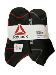 NEW Reebok Boys Socks 6 Pack Multisport Size L 4 10 Black $12.99