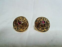 Vintage Museum of Modern Art MOMA Pierced quot;Etruscanquot; Garnet Earrings $75.00