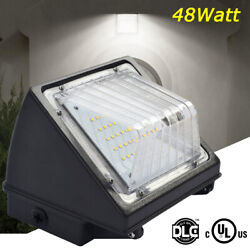 48W Commercial LED Wall Pack Light Outdoor Area Security Lights Fixture ETL DLC