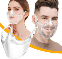 CLEAR Face Mask Shield Plastic Reusable Protective Cover Transparent Anti Fog $8.99
