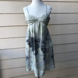 Anthropologie Fei Charcoal Terrace Dress Spaghetti Strap Party Short Cocktail 0 $10.99