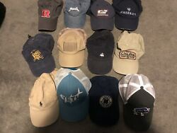 Lot Of 12 Mens Hats Polo Patagonia Brooks Brothers $30.00