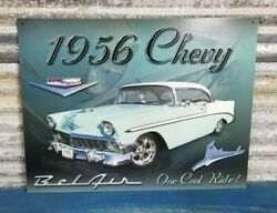 1956 Chevy Bel Air Classic Decor Garage Man Cave Metal Sign *FREE SHIPPING* $18.00