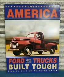 Ford Truck Built Tough Classic Decor Garage Man Cave Metal Sign *FREE SHIPPING* $18.00