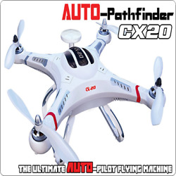 White 2.4GHz 6 Axis System Auto Pathfinder RTF Quadcopter for Cheerson CX 20 WF $136.65