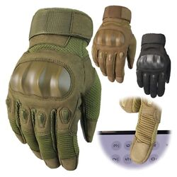 Touchscreen Tactical Hard Knuckle Gloves Men#x27;s Army Military Combat Police Duty $15.08