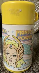 Aladdin Vintage Princess of Power She Ra Thermos SHE RA THERMOS only Yellow $15.00