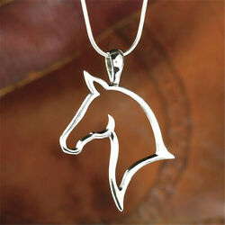 Silver Horse Necklace Pendant on Sterling Silver Chain $8.59