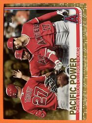 Trout Ohtani 2019 Topps Update PACIFIC POWER Gold 1860 2019 US189 Angels $13.99
