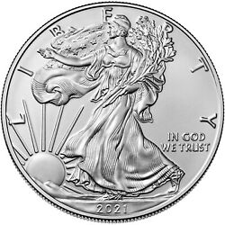 2021 $1 Type 1 American Silver Eagle 1 oz Uncirculated T1 $40.65