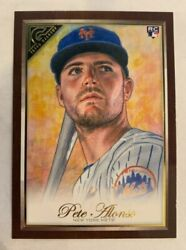 2019 Topps Gallery Pete Alonso RC WOOD CANVAS $4.99