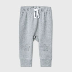Baby Boys#x27; Star Knee Jogger Pull On Pants Cat amp; Jack Gray Size 18M $3.19