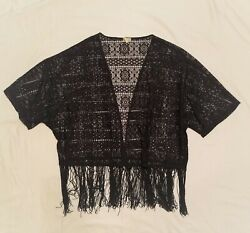 KIRRA Lace Top with Fringe Small $3.99