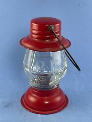 Red Railroad Lantern Vintage Glass Candy Container with original candy $13.99