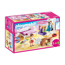 Playmobil Dollhouse Bedroom With Sewing Corner Building Set 70208 NEW IN STOCK $34.99