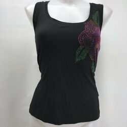 St John Black Sequin Tank Medium