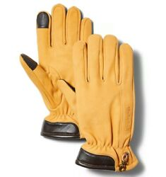 Timberland Men#x27;s Fleece Lined Wheat Leather Gloves $39.95